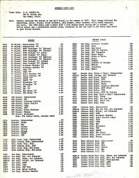 G. F. Harbin Athearn Parts List 1958